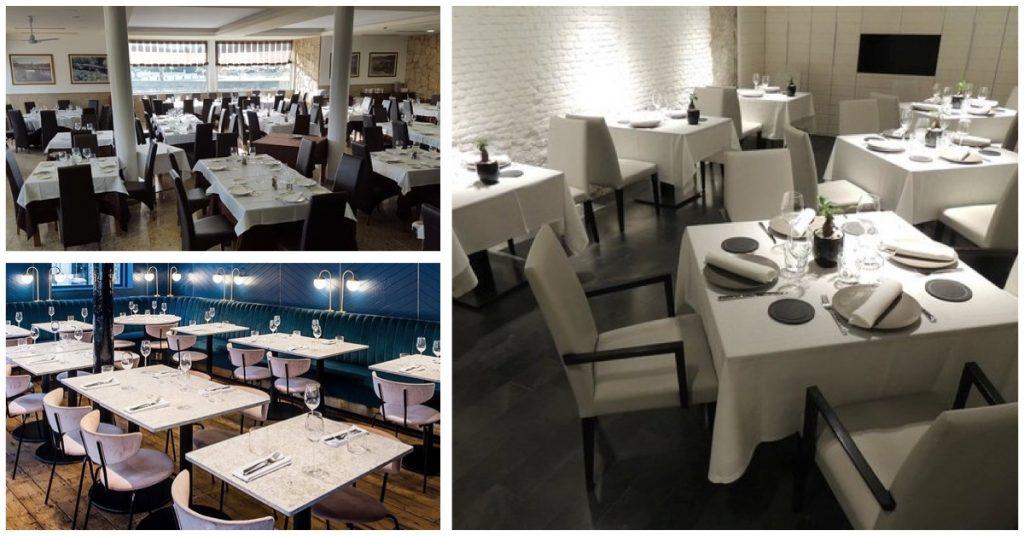 Así se deben colocar las mesas de un restaurante