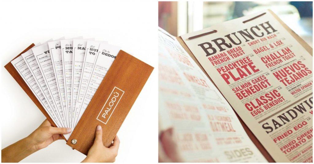 Estructura de contenido de la carta de restaurante