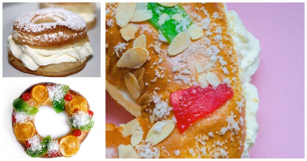 Tipos de Roscón de Reyes